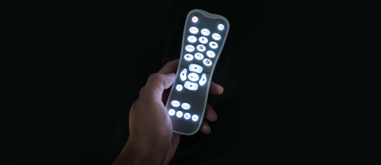 Backlit remote